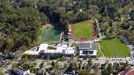 The high school facilities from the air