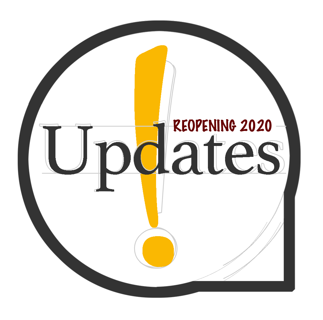 Reopening 2020 update logo, click here to access the page